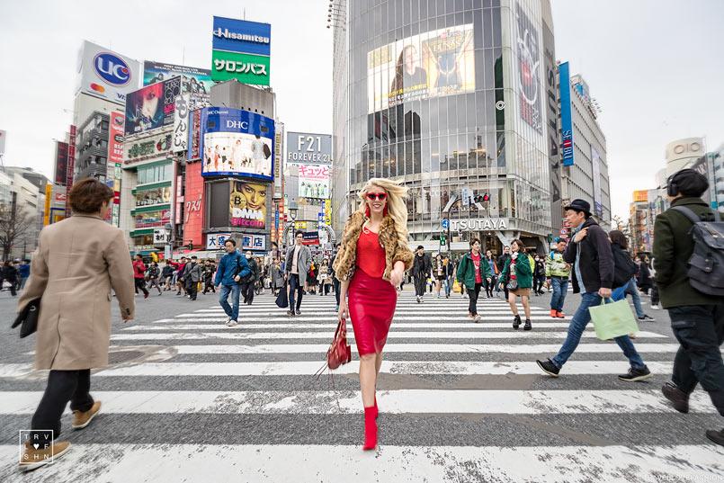 Tokyo Fashion Week Street Style Look - Red Look