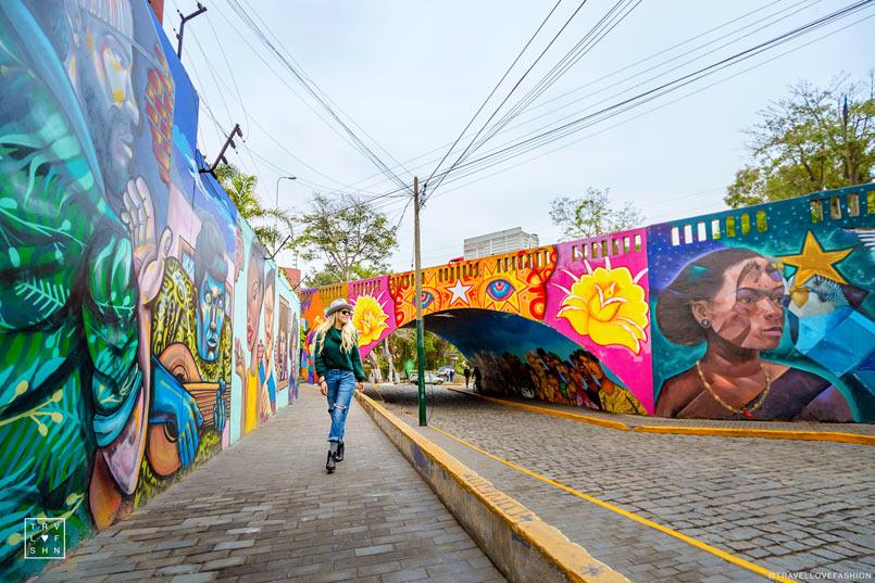 Street Art in Barranco, the coolest neighborhood in Lima, Peru.